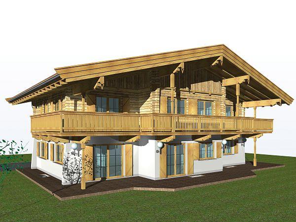 Hauszeit hauszeit haus 180 m2 for Modernes tirolerhaus